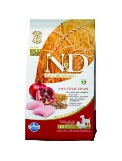 Farmina N&D dog LG Light small&medium chicken&pomegranate