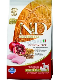 Farmina N&D dog LG Senior small&medium chicken&pomegranate