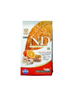 Farmina N&D cat OCEAN LG  adult codfish, spelt, oats&orange