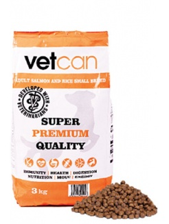 Vetcan Adult Salmon & Rice Small Breed 3kg