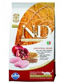 Farmina N&D cat LG Neutered chicken&pomegranate