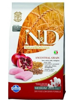 Farmina N&D dog LG adult medium&maxi chicken, spelt, oats&pomegranate