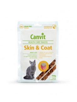 Pamlsok Canvit Health Care cat Skin & Coat Snack 100 g