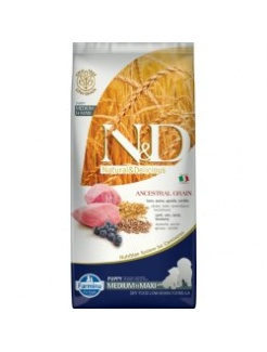 Farmina N&D dog LG adult medium&maxi lamb, spelt, oats&blueberry