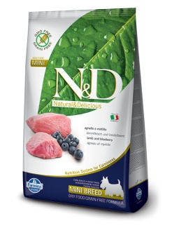 Farmina N&D dog GF adult mini lamb&blueberry 7kg