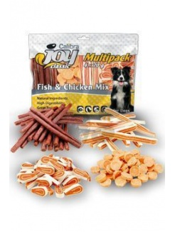 Pamlsok CALIBRA Joy DOG Multipack Fish & Chicken Mix 4x70g