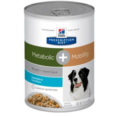 HILLS Diet Canine Stew Metabolic Plus Mobility with Tuna & Vegetables konzerva 354 g