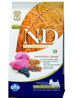 Farmina N&D dog LG adult mini lamb,spelt,oats&blueberry 2